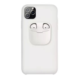 Coque iPhone AirPods : Blanc